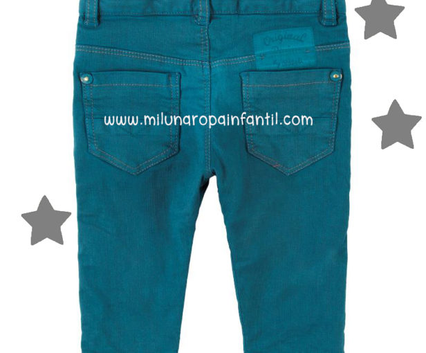 Pantalón Denim Color Cobalto. Bóboli